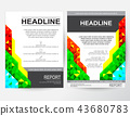 Creative design A4 layout for business 43680783