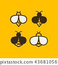 Bee logo design template 43681056