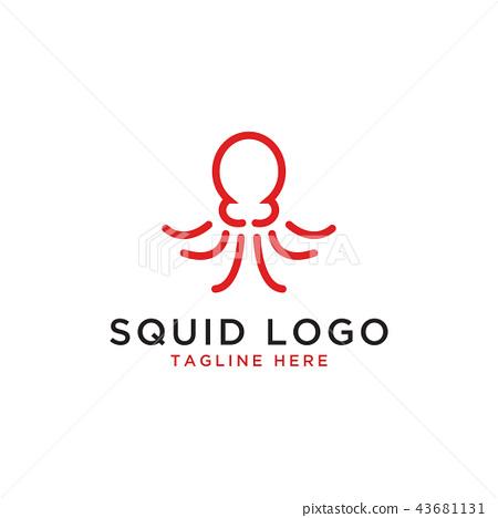 squid logo design template stock illustration 43681131 pixta pixta