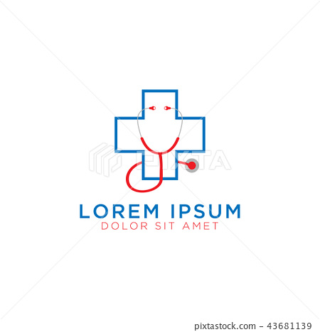Medical cross logo design template 43681139