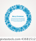 The Wreath Snowflakes. New Year, Christmas Frame. 43681512