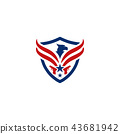 Eagle and shield logo emblem template vector 43681942