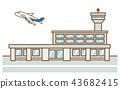 공항 비행기 43682415