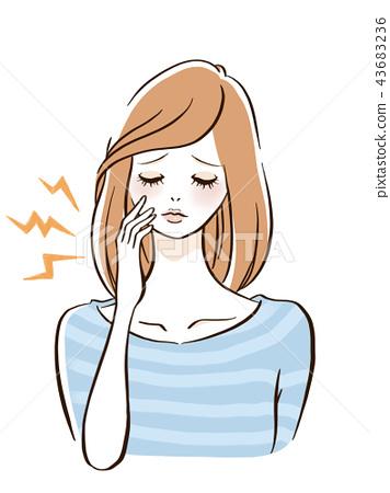 疼痛的牙齒 43683236
