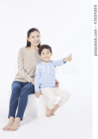 가족,엄마,아들,한국인 43684869