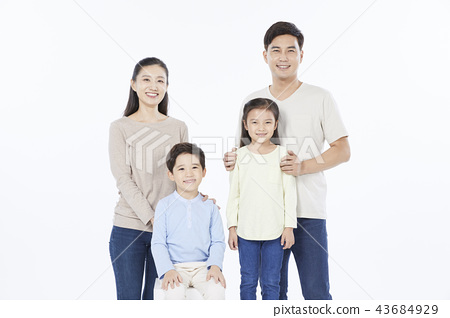 Dad, Mom, Son, Daughter, Family, Korean 43684929