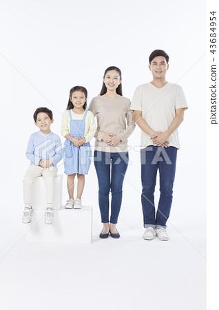 Dad, Mom, Son, Daughter, Family, Korean 43684954