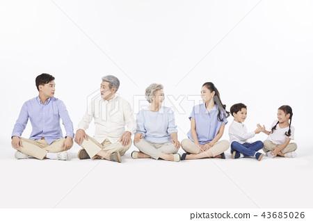 大家庭,家庭,韓國人 43685026