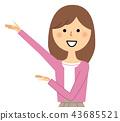 成熟的女人 一個年輕成年女性 女生 43685521
