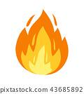 vector, bonfire, campfire 43685892