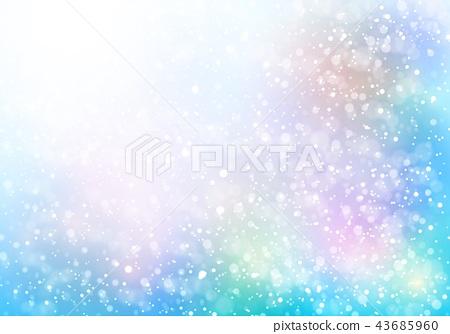 淡蓝色的彩色闪光背景 43685960