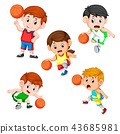 collection of the basketball profesional children  43685981