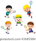 collection of badminton children player  43685984