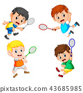 collection of the profesional badminton player  43685985