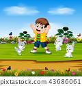 可爱 玩耍 玩 43686061