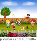 男孩 男孩们 玩耍 43686067
