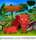 the big ant sleep in the garden and his friend  43686080