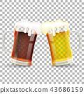beer glass vector 43686159