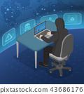 hacker laptop computer 43686176