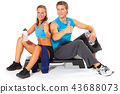 Couple resting after aerobic session 43688073