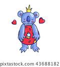 koala, bear, character 43688182