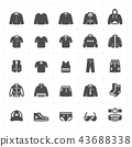 Icon set - Clothing Man filled icon vector 43688338