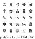 Icon set - Healthcare and Medical filled icon 43688341