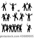 celebrate stick figure 43689005