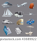 traveling and resort icons 43689922