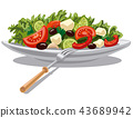 fresh greek salad 43689942