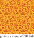seamless barbecue pattern 43689968