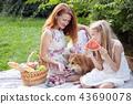 happy family at a picnic 43690078
