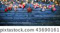 Christmas rustic background with wooden planks 43690161