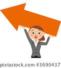 rise, employee, businessperson 43690437