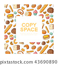 Bakery kids hand drawing set pattern background 43690890