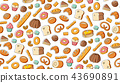 Seamless pattern background Bakery kids drawing 43690891