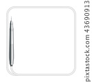 Dental handpieces instrument and rounded square 43690913