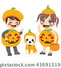 halloween, pumpkin, kids 43691319