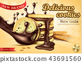 Advertising banner for chocolate sandwich cookies 43691560
