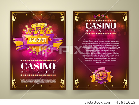 casino flyer, banner 43691615