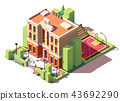 Vector isometric school building 43692290