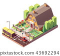 Vector isometric kindergarten 43692294