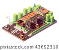 Vector isometric gas station 43692310