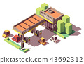 Vector isometric gas station 43692312