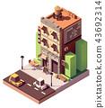 Vector isometric coworking building 43692314