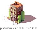 Vector isometric coworking building 43692319