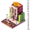 Vector isometric casino building 43692321