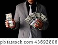 Finance Business Concepts. Lots of money on a black background. 43692806