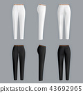 White and black womens pants realistic  43692965