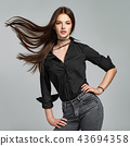 woman, hair, beautiful 43694358